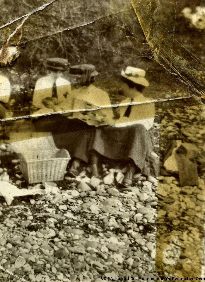 A Group of Women having a Picnic at Youghal