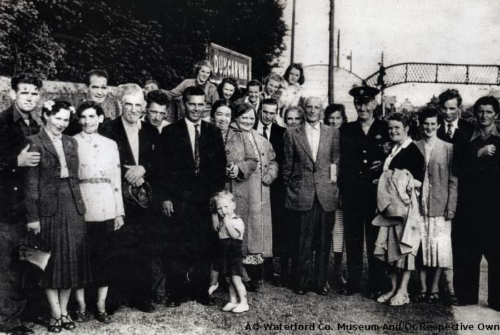 Wedding Party Of Mr. And Mrs. Connie Organ  At Dungarvan Train Station