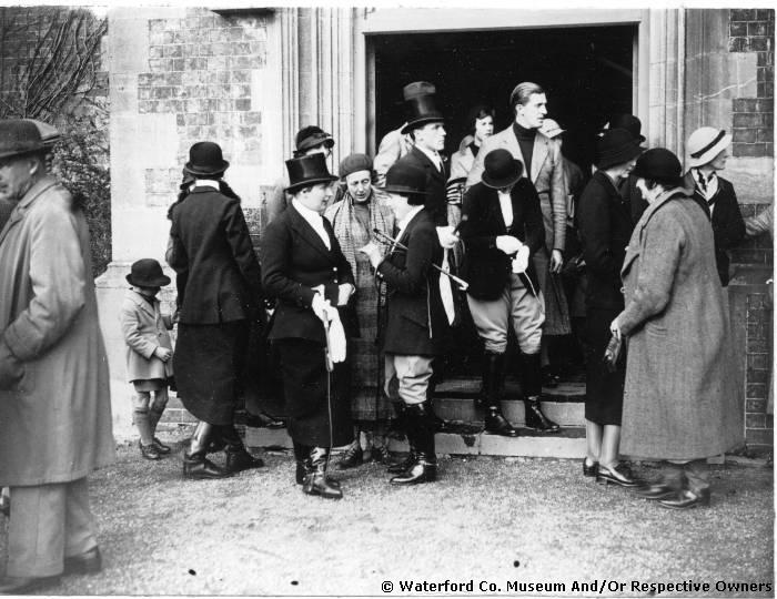 Huntspeople At The Entrance To Manor Of Saint John