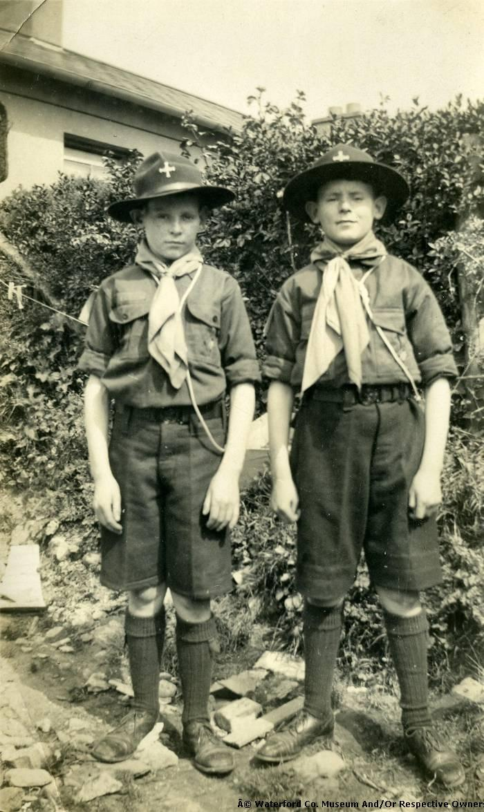 Two Boy Scouts With Posing For A Picture