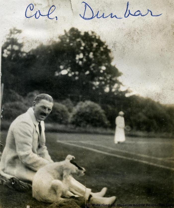 Colonel Dunbar At A Tennis Match, Salterbridge House, Cappoquin
