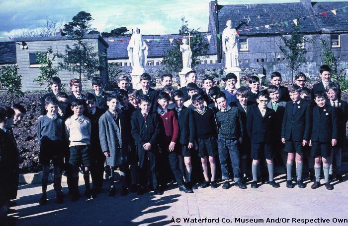 Dungarvan CBS Pupils In School Yard; Opening Of New Primary School.