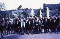 Dungarvan CBS Class In School Grounds During The New School Opening.