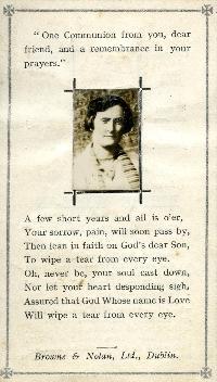 Mortuary Card, Birdie Whelan, Abbeyside