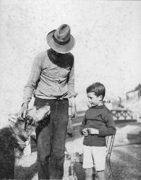 Mr. Keane & Freddie With A Dog, Ardmore