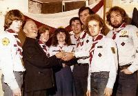 11th Waterford Scout Troop, Dungarvan, Presentation To Father Bracken