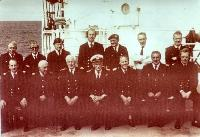 Captain Norman Frazer And Fellow Naval Officers