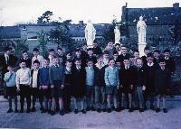 Dungarvan CBS Class In School Playground;Opening Of  New Primary School.