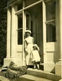 Ruby Burstall (Governess) And Marcella Chearnley , Kilbree House, Cappoquin