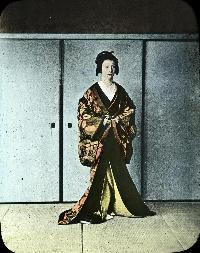 Japanese Lady In Traditional Dress