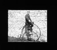 Richard Edward Brenan On His Penny-Farthing Bicycle