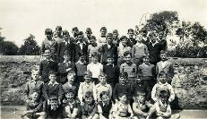 A Group Of Unidentified Schoolboys