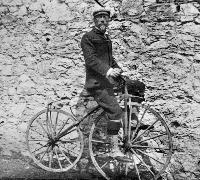 Mr. Richard Edward Brenan On His Bicycle