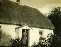 Annie McGuire At Her Thatched Cottage, Salterbridge