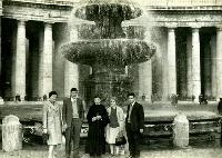 Mansfield Family At A Fountain In Rome For Ordination