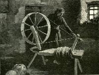 Woman Spinning Wool In Lismore