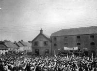 Large Crowd Attending Blue Shirt Meeting, Carrick On Suir
