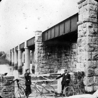 Cappoquin Railway Bridge And Two Cyclists